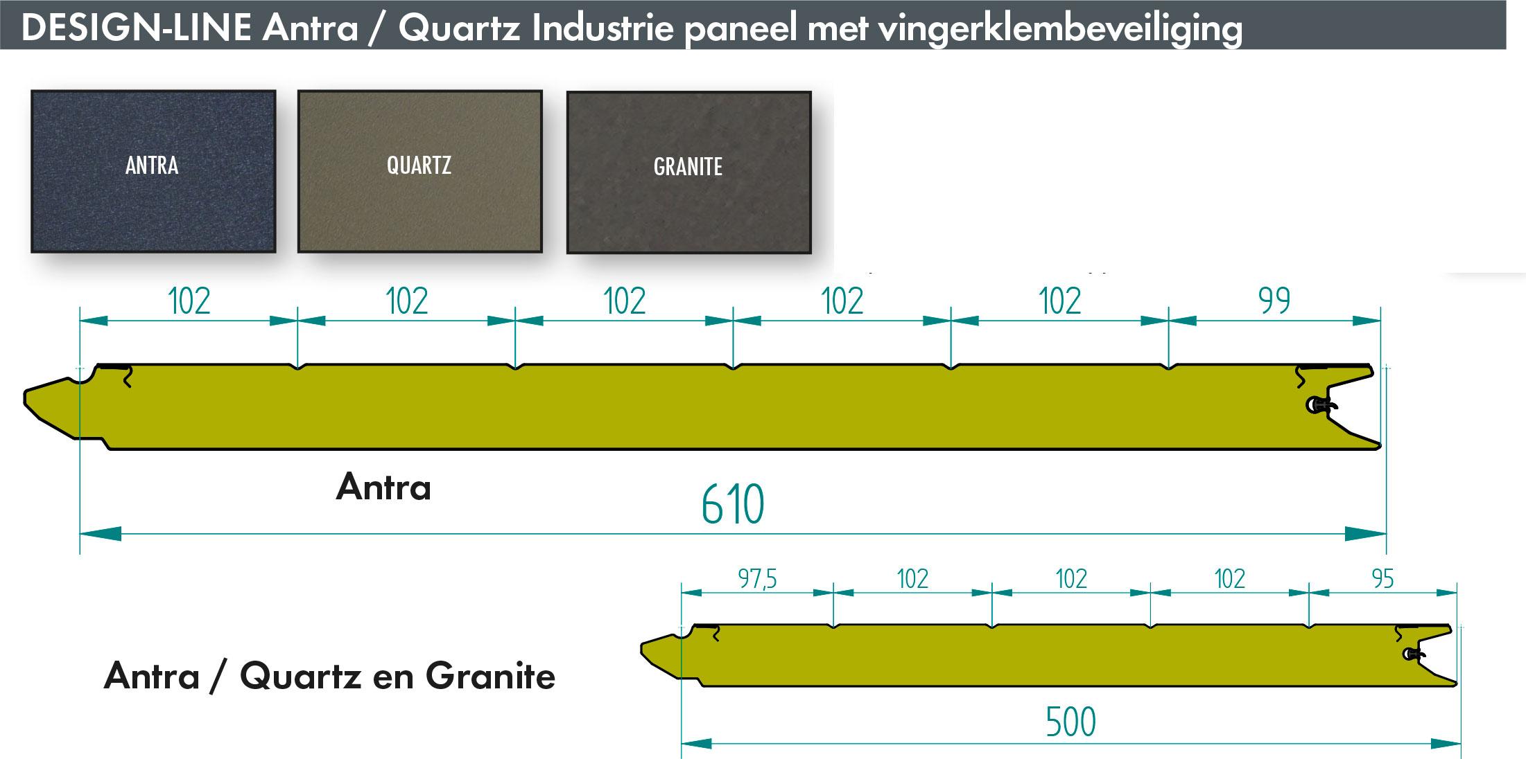 Bedrijfsdeur panelen in het stijlvolle ANTRA design | Louwers Deurtechnieken