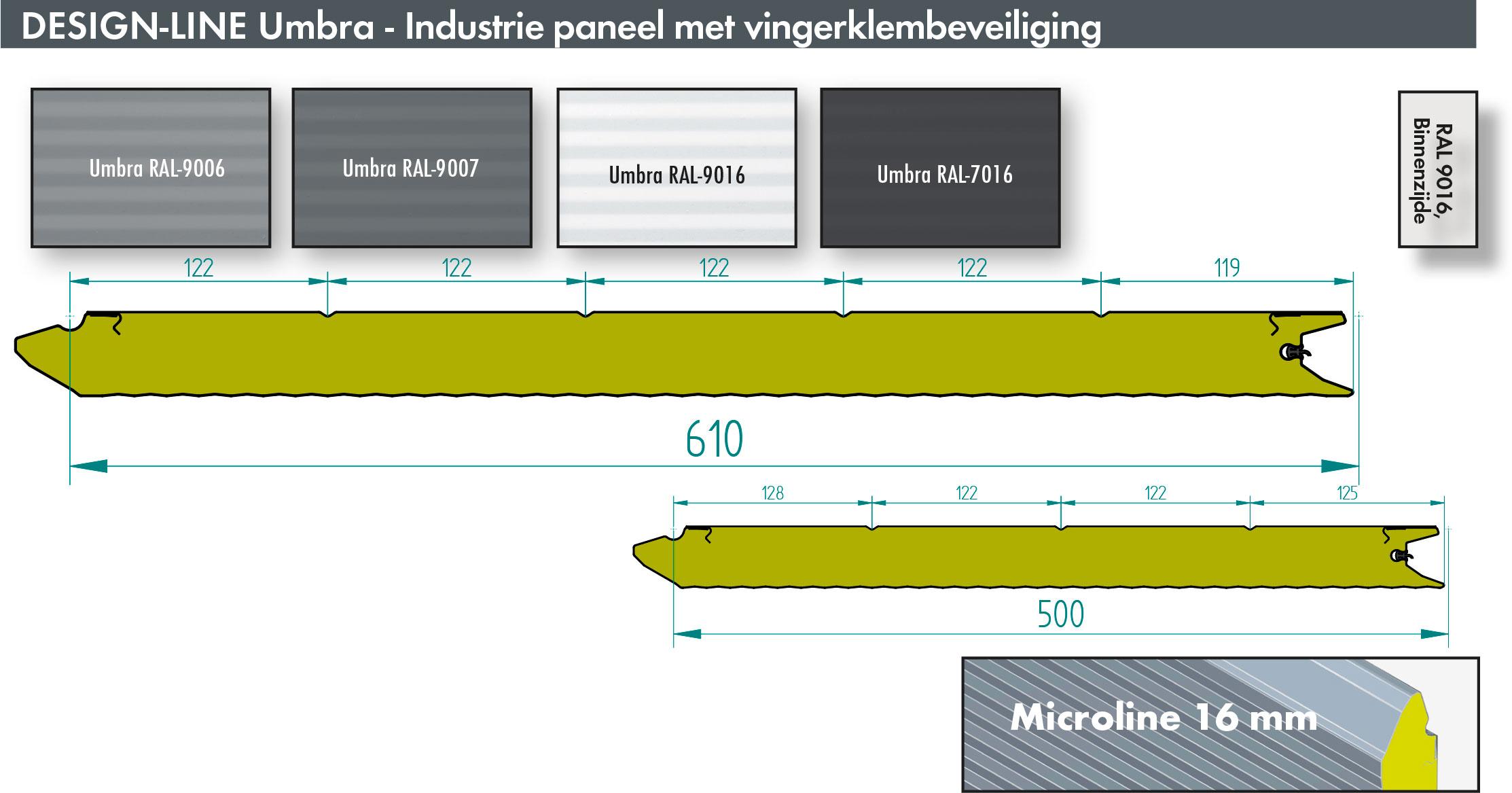 Bedrijfsdeur panelen in het industriële UMBRA design | Louwers Deurtechnieken